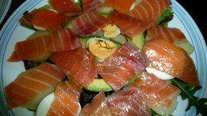 Ensalada de salmón con patata