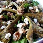 Ensalada de alcachofas con almejas