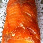 Brazo de gitano salado de salmón ahumado