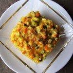 Arroz cremosillo de verduras al curry con quesito