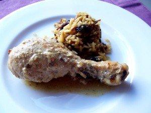 Pollo Tandoori con arroz hindú