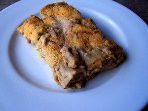 Canelones de pollo y foie